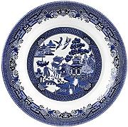 Blue Willow Churchill China Plato Hondo, Color Azul