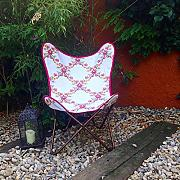 Butterfly Chair silla mariposa funda handmade - desmontable - easy assembly black metal frame