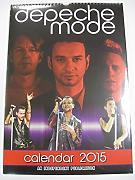 Calendario Depeche Mode 2015 de pared en vertical
