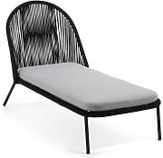 Chaise Longue Badia Negro - Trends Home Selection
