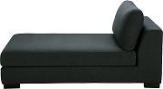 Chaise longue modulable gris antracita Terence