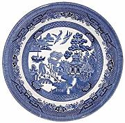 Churchill China Blue Willow Coupe - Cuenco (20 cm)