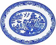 Churchill China Blue Willow Oval Dish 31cm