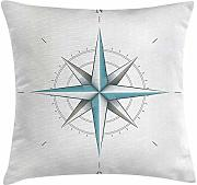 Compass Decor Throw Pillow Cushion Cover, Antique