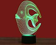 Coral Fish Colorful 3D Night Light Interface USB