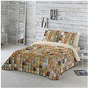 COTTON ART- Funda Nórdica BROWN MOSAIC Cama de