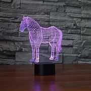 Creative 3D LED Unicornio Luces Nocturnas 7