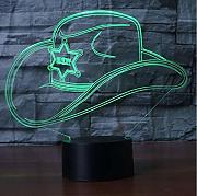Creativo Colorido 3D Led Gradiente Sombrero De