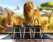 Custom 3D Wallpapers Lovely Lion Animals Wallpaper