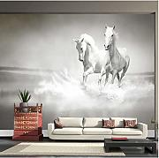 Custom Any Size Photo Wallpaper White Horse Large