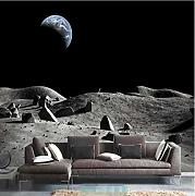 Custom Wallpaper 3D Sky Lunar Surface Mural 3D