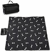 Cute Bones For Terrier Dog Picnic Blanket con