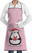 Cute Penguin Custom Unisex Kitchen Delantal