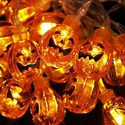 Decoración 20 LED de color naranja calabaza de