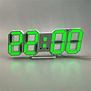 Dengc 3Dled Digital Wall Hanging Electronic Alarm