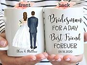 DKISEE Bridesman for a Day Best Friend Forever