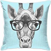 Dog with Glasses Throw Pillow Covers Decorative