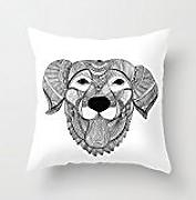 Dogs Throw Pillow Covers 18 X 18 Inches / 45 By 45 Cm Best Choice For Indoor,him,divan,monther,kids Room,boy Friend With Double Sides