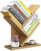 Doitool 3 Layers Wooden Bookcases Tabletop Tree