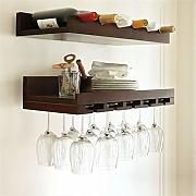 Dongyd 2 Tiers 60 cm pared Wine Rack natural