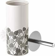 Dream Hogar Escobillero Leaf Grey Ceramica