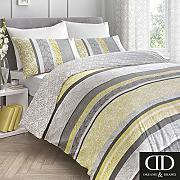 Dreams & Drapes Hanworth, Ochre Yellow, Duvet