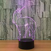 Dwthh 3D Led 7 Cambio De Color Unicornio Modelado
