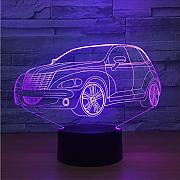Dwthh 7 Atmósfera Cambiante Del Color 3D Led Car