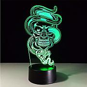 Dwthh Creativo 3D Led Visual Gradientes De Colores