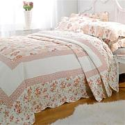 Emma Barclay Lille Patchwork Colcha Set, Rosa,