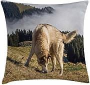 ERCGY Alaskan Malamute Throw Pillow Cushion Cover,