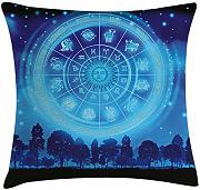 ERCGY Astrology Throw Pillow Cushion Cover,