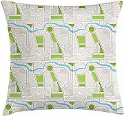 ERCGY Children's City Map Throw Pillow Cushion