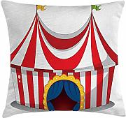 ERCGY Circus Throw Pillow Cushion Cover,