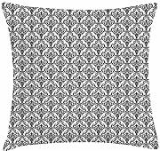 ERCGY Damask Throw Pillow Cushion Cover,