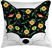 ERCGY Fox Throw Pillow Cushion Cover, Artistic Fox