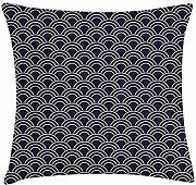 ERCGY Geometric Throw Pillow Cushion Cover, Marine