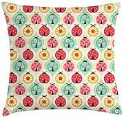 ERCGY Kids Throw Pillow Cushion Cover, Ladybugs