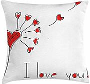 ERCGY Love Throw Pillow Cushion Cover, Dandelion