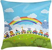 ERCGY Nursery Throw Pillow Cushion Cover, Cartoon