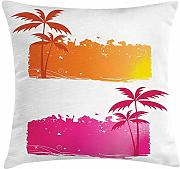 ERCGY Orange and Pink Throw Pillow Cushion Cover,