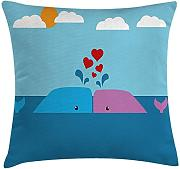 ERCGY Whale Throw Pillow Cushion Cover, Art of