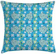 ERCGY Yellow and Blue Throw Pillow Cushion Cover,