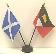 Escocia y Antigua y Barbuda doble de la bandera de
