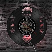 Ess Barber Shop Reloj de pared con disco de vinilo