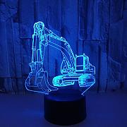 Excavadora 3d lámpara 7 color  táctil 3d led