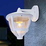 Farol exterior Nollo descendiente con IP44, blanco