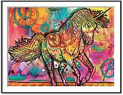 FastDirect 30x40CM Moderno Unicornio Multicolor