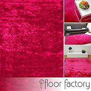 floor factory Alfombra de Pelo Largo Satin Rosa