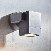 Foco de pared exterior Kavuna gris IP65 angular